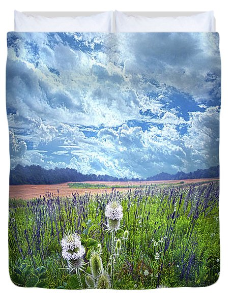 Duvet Cover featuring the photograph A Chance Of Rain by Phil Koch