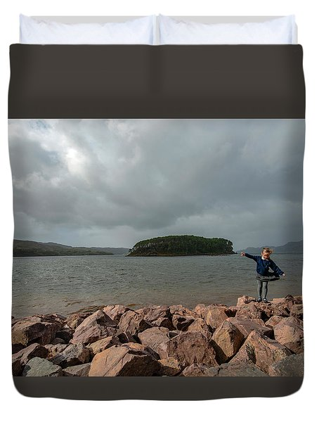 A Charming Little Girl In The Isle Of Skye 1 Duvet Cover