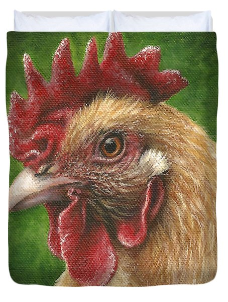 A Chicken For Terry Duvet Cover
