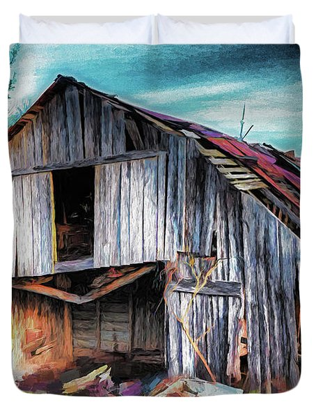 A Classic Vintage Barn In The Blue Ridge Ap Duvet Cover
