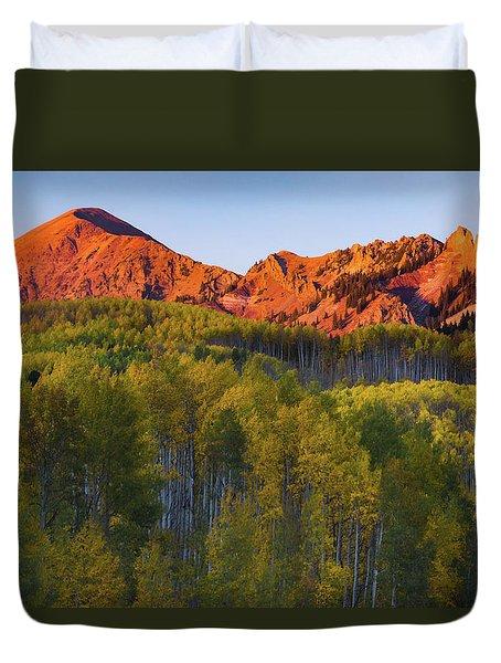 A Colorado Glow Duvet Cover