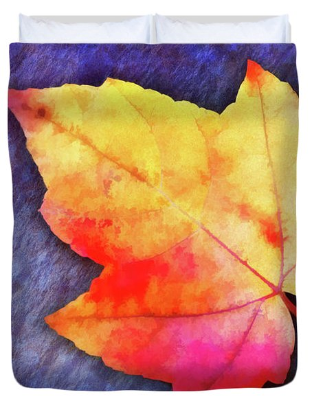 A Colorful Fall Memory Duvet Cover