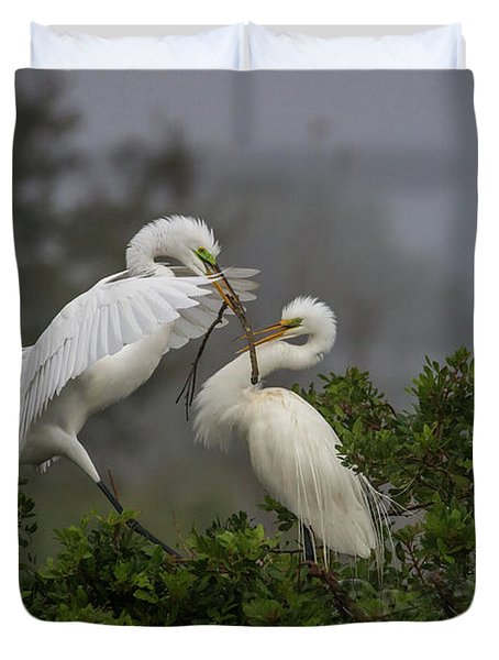 A Couple Of Birds Duvet Cover