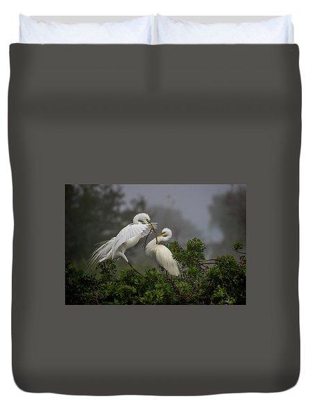 A Couple Of Birds Duvet Cover