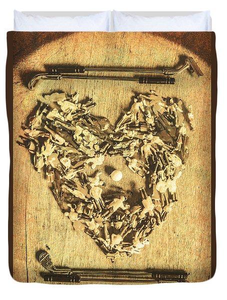 A Course For Romance Duvet Cover