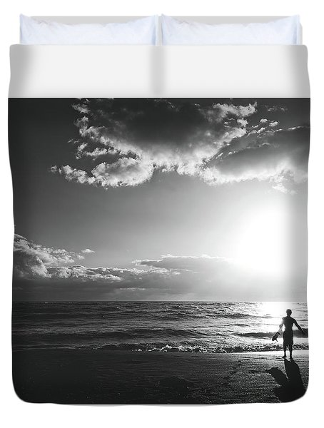 A Day Of Surfing Begins Duvet Cover