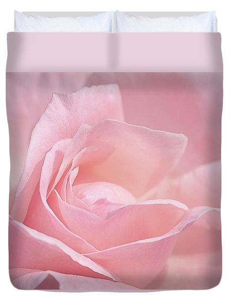 A Delicate Pink Rose Duvet Cover