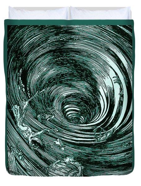 A Descent Into The Maelstrom By Edgar Allan Poe Illustration By Arthur Rackham Duvet Cover