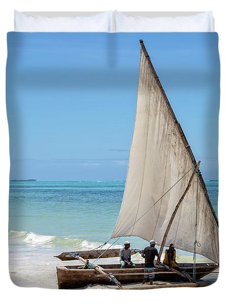 A Dhow In Zanzibar Duvet Cover