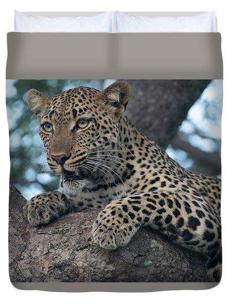 A Focused Leopard Duvet Cover