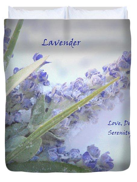 A Gift Of Lavender Duvet Cover