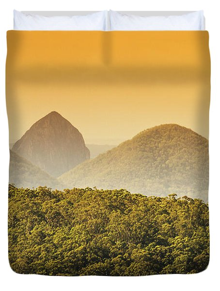 A Glowing Afternoon Duvet Cover