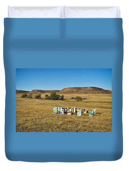 Duvet Cover featuring the photograph A Great Place To Bee by Carl Young