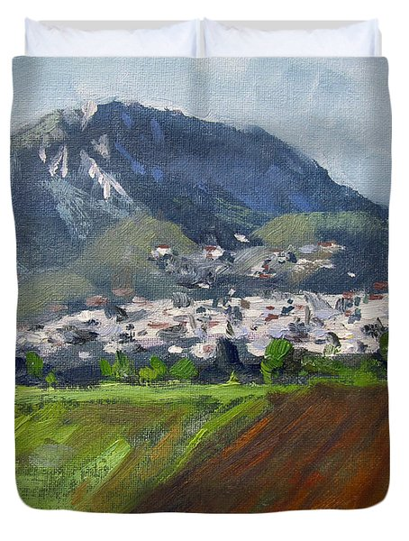 A Greek Village Duvet Cover