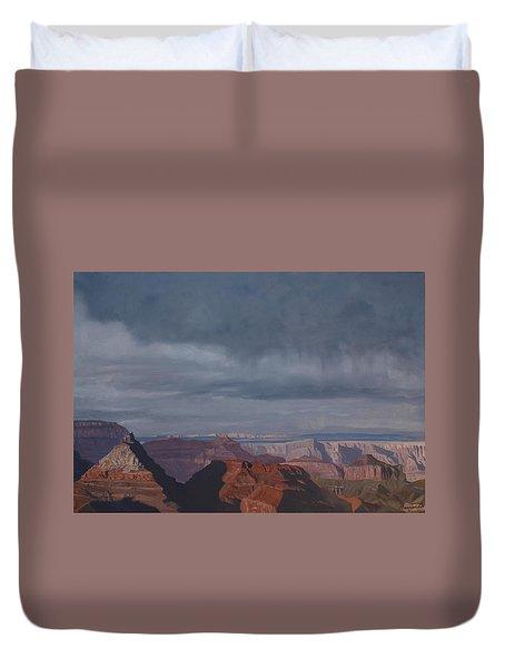 A Little Rain Over The Canyon Duvet Cover