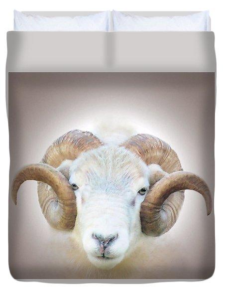 A Little Ram  Duvet Cover
