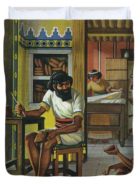 A Merchant In Babylon Duvet Cover