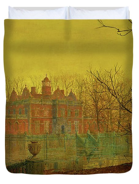 A Moated Yorkshire Home Duvet Cover