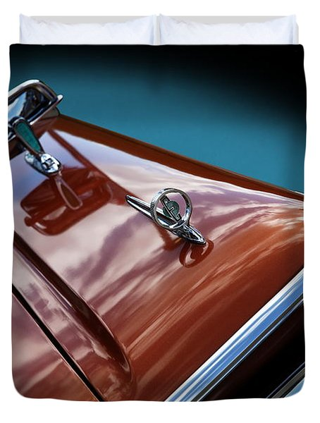 Duvet Cover featuring the photograph A New Slant On An Old Vehicle - 1959 Edsel Corsair by Debi Dalio