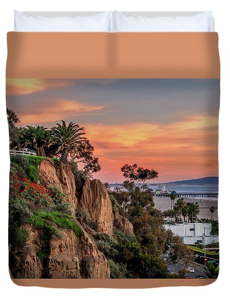A Nice Evening In The Park Duvet Cover