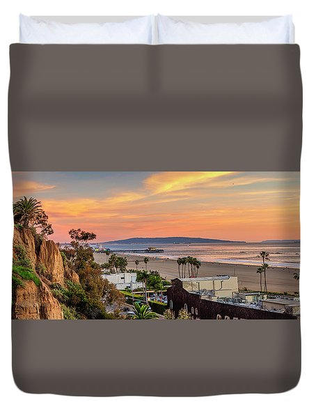 A Nice Evening In The Park - Panorama Duvet Cover