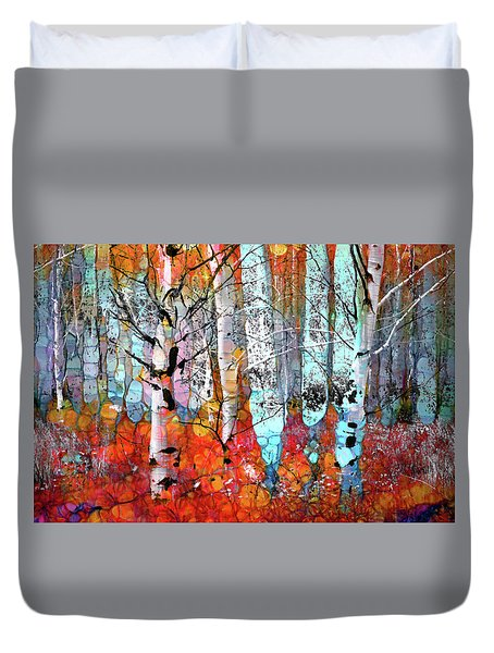 A Party In The Forest Duvet Cover