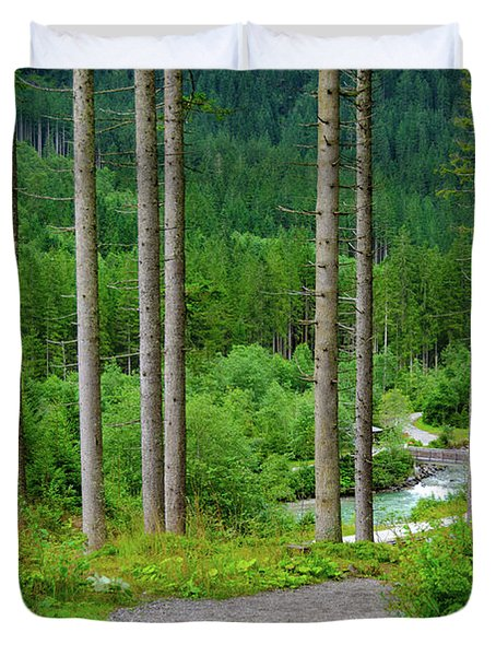 A Path To The River Duvet Cover