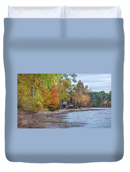 A Peaceful Place On An Autumn Day Duvet Cover