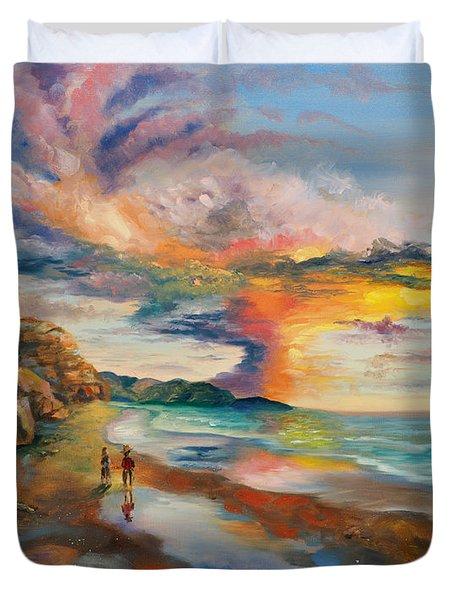 A Peculiar Sunset Duvet Cover