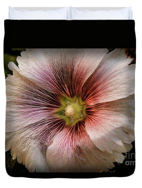 A  Pink Hollyhock Duvet Cover