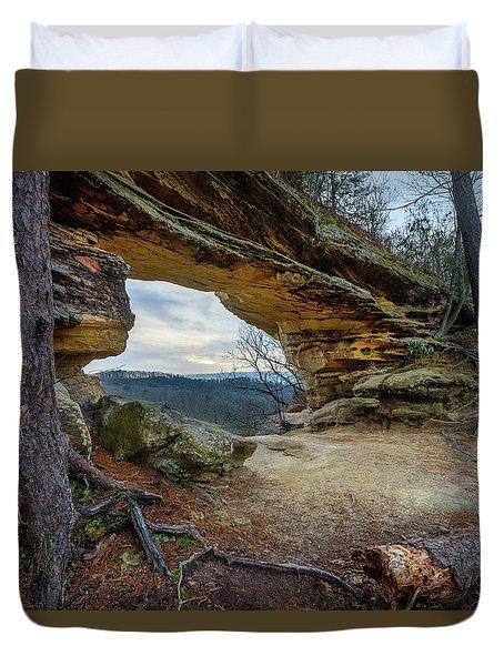A Portal Through Time Duvet Cover