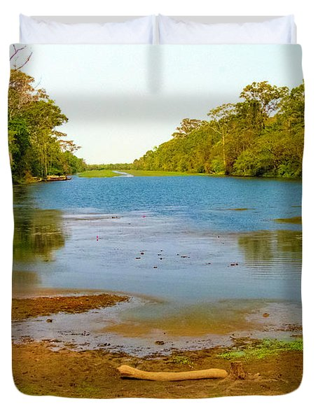 A Pretty Place To Rest In Cambodia Duvet Cover