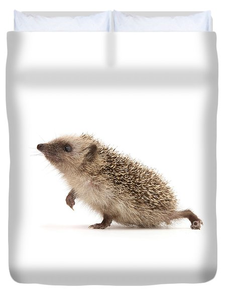 Duvet Cover featuring the photograph A Prickly Problem by Warren Photographic