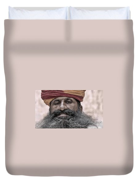 A Proud Beard Duvet Cover