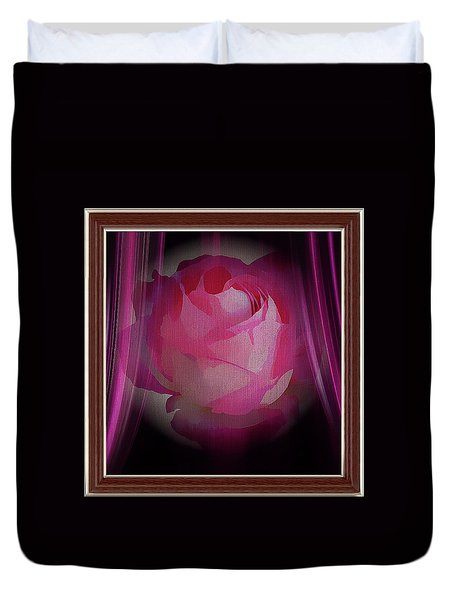 A Purple Rose On Stage Duvet Cover