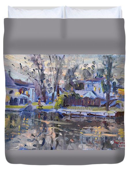 A Quiet Evening By The Water. Duvet Cover