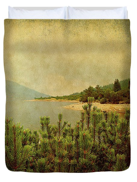 Duvet Cover featuring the photograph A Quiet Moment Before Storm... by Milena Ilieva
