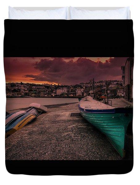 A Quiet Moment - Cornwall Duvet Cover