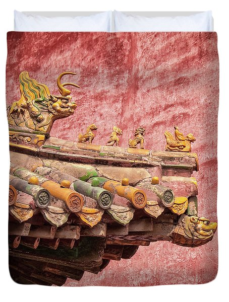 A Roof In The Forbidden City Duvet Cover