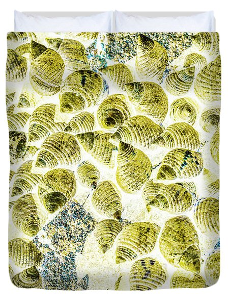 A Seashell Abstract Duvet Cover