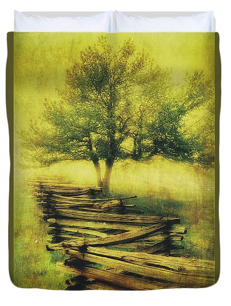 A Shady Tree On A Foggy Day Fx Duvet Cover