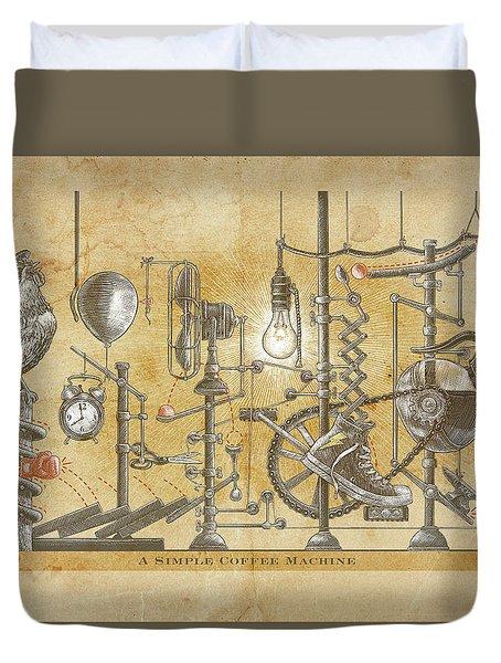 A Simple Coffee Machine Duvet Cover