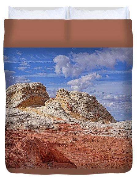 Duvet Cover featuring the photograph A Strange View by Theo O'Connor
