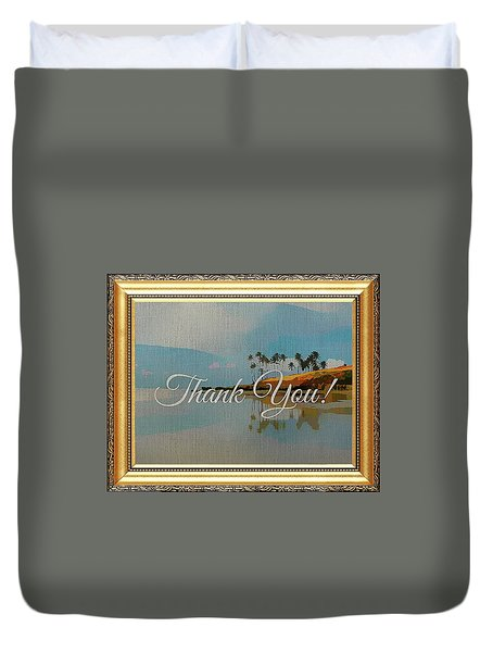 A Thank You Gift Duvet Cover