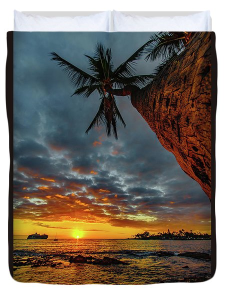 A Typical Wednesday Sunset Duvet Cover