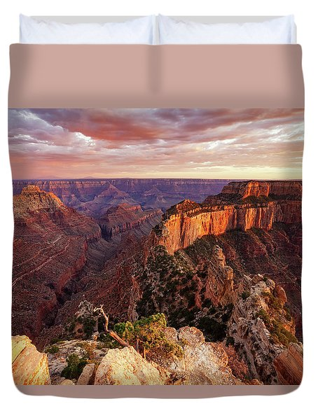 A View From Cape Royal Duvet Cover
