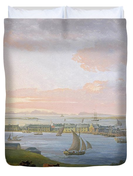 A View Of Stornoway, 1798 Duvet Cover