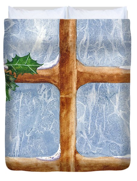 A Visit From Jack Frost Duvet Cover
