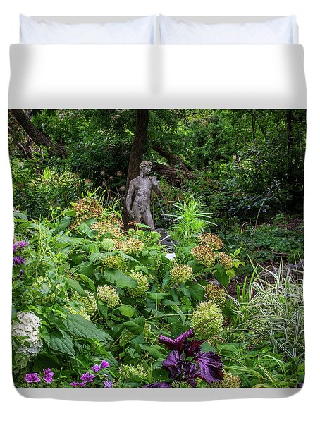 Duvet Cover featuring the photograph A Walk In The Garden by Dale Kincaid