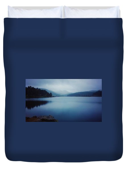 Duvet Cover featuring the photograph A Washed Landscape by Dan Miller